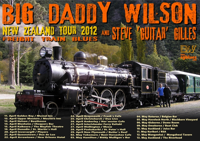 Big Daddy Wilson and Steve Gilles 2012 New Zealand Tour